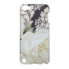 Elegant White Rose Vintage Damask Apple Ipod Touch 5 Hardshell Case