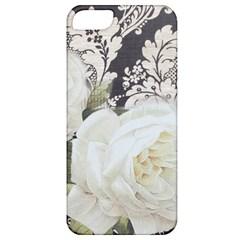 Elegant White Rose Vintage Damask Apple Iphone 5 Classic Hardshell Case