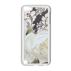 Elegant White Rose Vintage Damask Apple iPod Touch 5 Case (White)