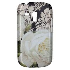 Elegant White Rose Vintage Damask Samsung Galaxy S3 MINI I8190 Hardshell Case