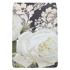 Elegant White Rose Vintage Damask Removable Flap Cover (small)