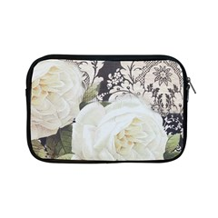 Elegant White Rose Vintage Damask Apple iPad Mini Zipper Case