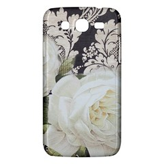 Elegant White Rose Vintage Damask Samsung Galaxy Mega 5.8 I9152 Hardshell Case