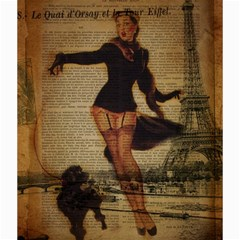 Paris Lady And French Poodle Vintage Newspaper Print Sexy Hot Gil Elvgren Pin Up Girl Paris Eiffel T Canvas 20  X 20  (unframed)