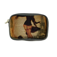 Paris Lady And French Poodle Vintage Newspaper Print Sexy Hot Gil Elvgren Pin Up Girl Paris Eiffel T Coin Purse