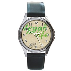 Patron Vegan Round Metal Watch (Silver Rim)