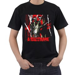 nightmare_on_elm_street_1_poster_06 Mens' T-shirt (Black)