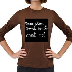 Image009 Womens' Long Sleeve T Shirt (dark Colored)