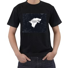 13704-game-of-thrones-stark-winter-is-coming Mens' Two Sided T-shirt (Black)