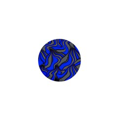 Foolish Movements Blue 1  Mini Button