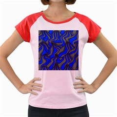 Foolish Movements Blue Women s Cap Sleeve T-Shirt (Colored)