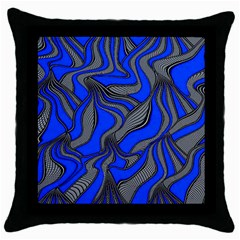 Foolish Movements Blue Black Throw Pillow Case