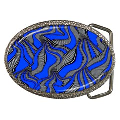 Foolish Movements Blue Belt Buckle (Oval)