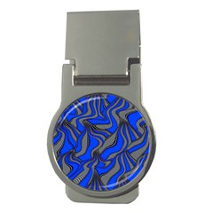 Foolish Movements Blue Money Clip (round)