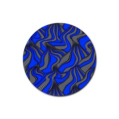 Foolish Movements Blue Drink Coasters 4 Pack (Round)