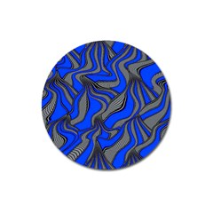 Foolish Movements Blue Magnet 3  (round)