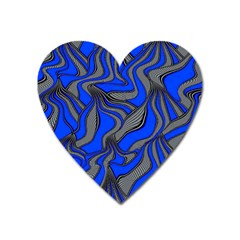 Foolish Movements Blue Magnet (Heart)