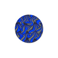 Foolish Movements Blue Golf Ball Marker 4 Pack