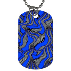 Foolish Movements Blue Dog Tag (Two-sided)