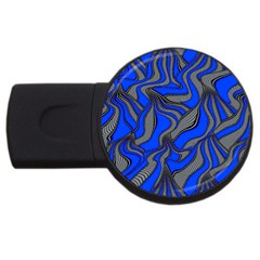 Foolish Movements Blue 2gb Usb Flash Drive (round)