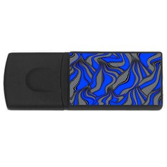 Foolish Movements Blue 1GB USB Flash Drive (Rectangle)