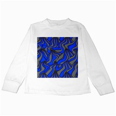 Foolish Movements Blue Kids Long Sleeve T-Shirt