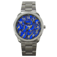 Foolish Movements Blue Sport Metal Watch