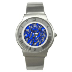 Foolish Movements Blue Stainless Steel Watch (Unisex)