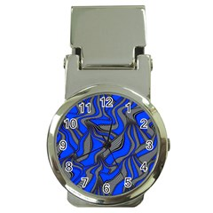 Foolish Movements Blue Money Clip with Watch