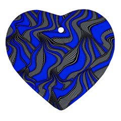 Foolish Movements Blue Heart Ornament (Two Sides)