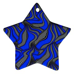 Foolish Movements Blue Star Ornament (Two Sides)