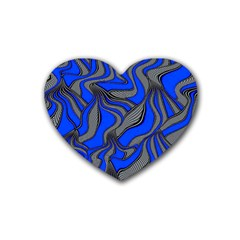 Foolish Movements Blue Drink Coasters 4 Pack (heart)