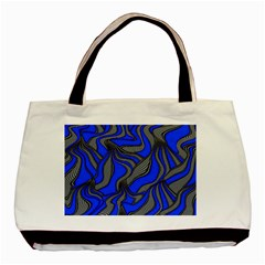 Foolish Movements Blue Twin-sided Black Tote Bag