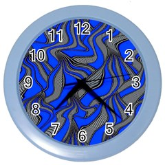 Foolish Movements Blue Wall Clock (Color)
