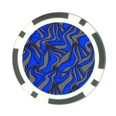 Foolish Movements Blue Poker Chip