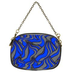 Foolish Movements Blue Chain Purse (One Side)