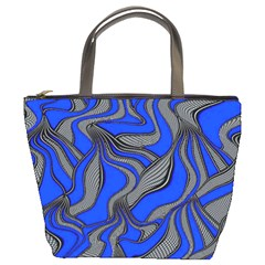 Foolish Movements Blue Bucket Bag