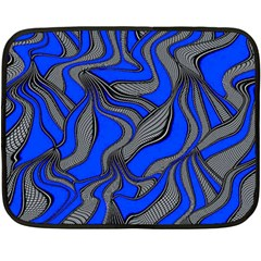 Foolish Movements Blue Mini Fleece Blanket (two Sided)