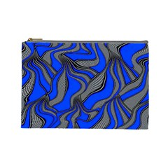 Foolish Movements Blue Cosmetic Bag (Large)