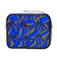 Foolish Movements Blue Mini Travel Toiletry Bag (One Side)