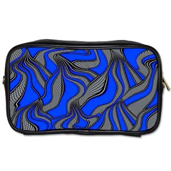 Foolish Movements Blue Travel Toiletry Bag (Two Sides)