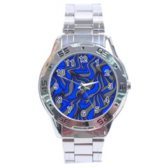 Foolish Movements Blue Stainless Steel Watch (men s)