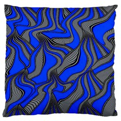 Foolish Movements Blue Large Cushion Case (Single Sided)