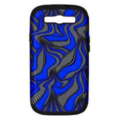 Foolish Movements Blue Samsung Galaxy S III Hardshell Case (PC+Silicone)