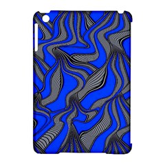 Foolish Movements Blue Apple Ipad Mini Hardshell Case (compatible With Smart Cover)