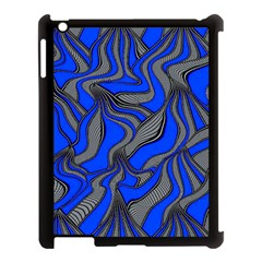 Foolish Movements Blue Apple iPad 3/4 Case (Black)
