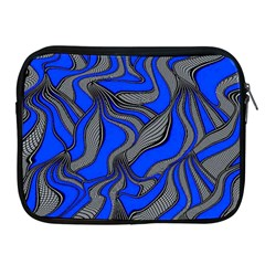 Foolish Movements Blue Apple iPad 2/3/4 Zipper Case