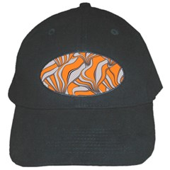 Foolish Movements Swirl Orange Black Baseball Cap