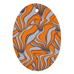 Foolish Movements Swirl Orange Oval Ornament