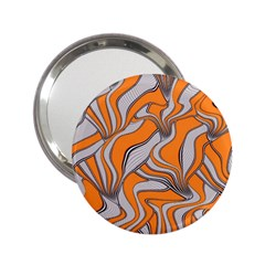 Foolish Movements Swirl Orange Handbag Mirror (2 25 )